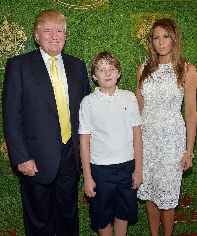 "According to proud mum Melania, her son is a ""mini-Donald."""