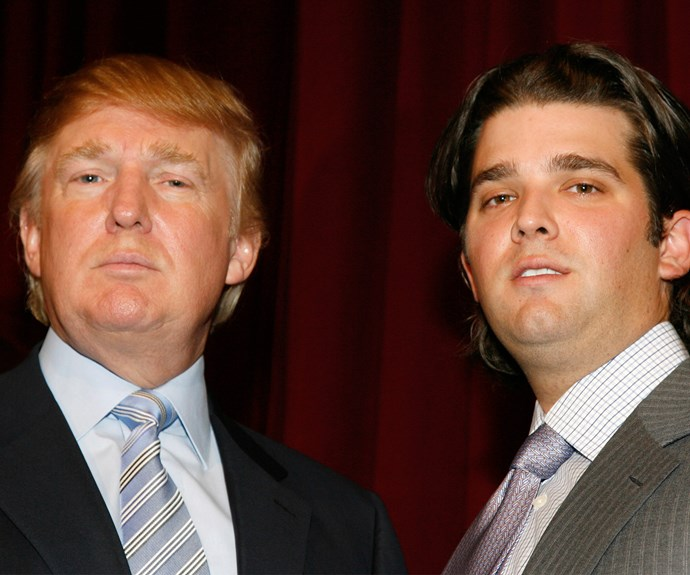 Donald with his son Donald Jr.