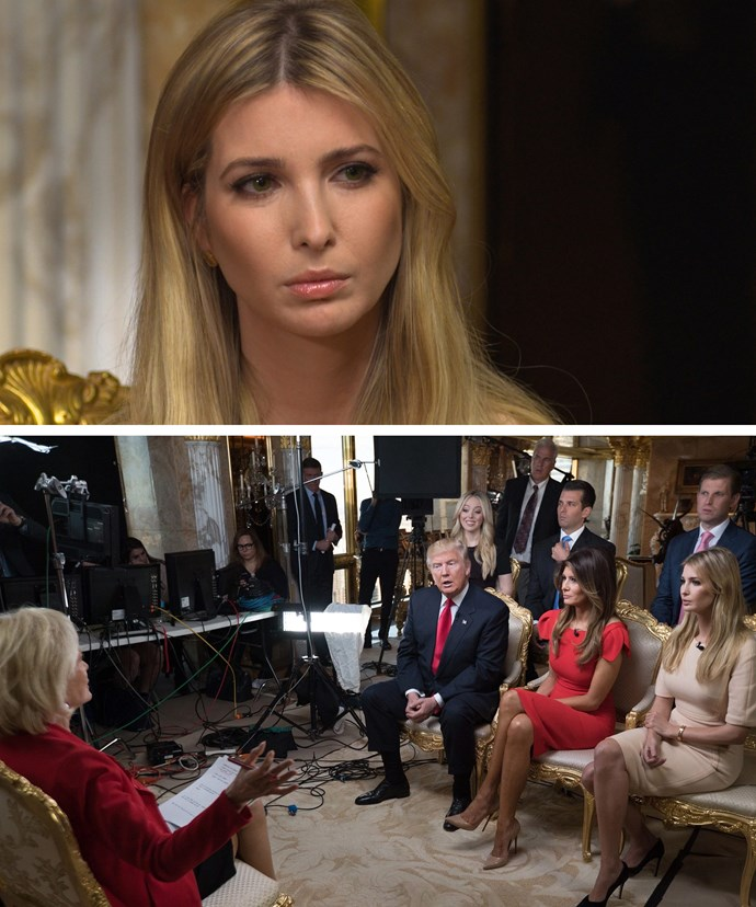 Ivanka sat down with her dad for his first interview since being elected.