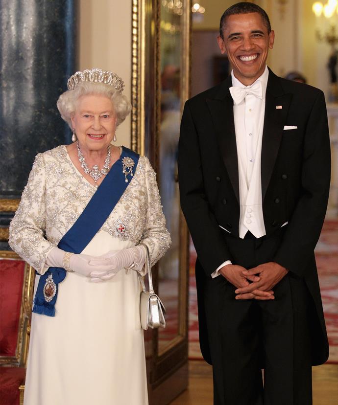 Her Majesty was a huge fan of President Obama.