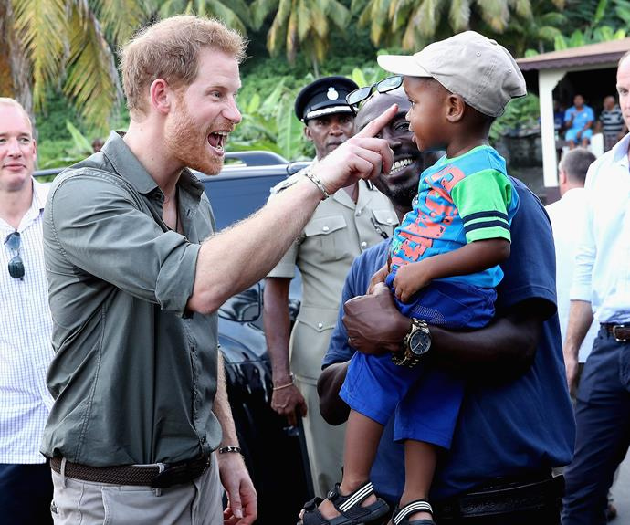 The fifth-in-line to the British throne charms the locals everywhere he goes.