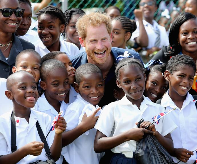 Later that day he met with local school kids at Queens Park Grounds.