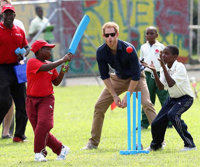 And of course when in Caribbean, who need to play a game of cricket.