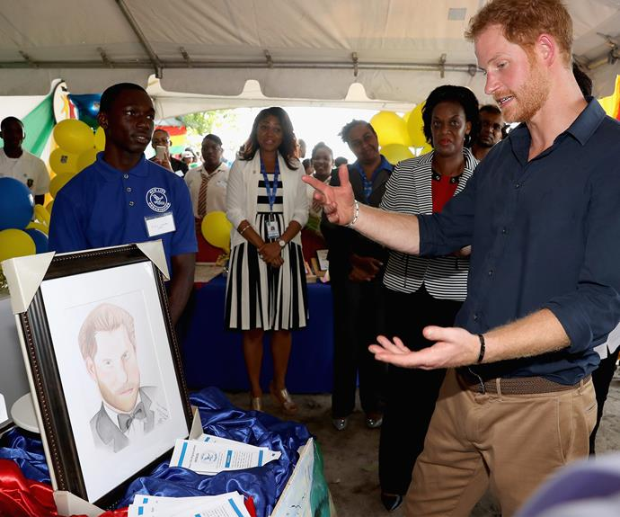 The royal was moved by a local artist's depiction of himself.