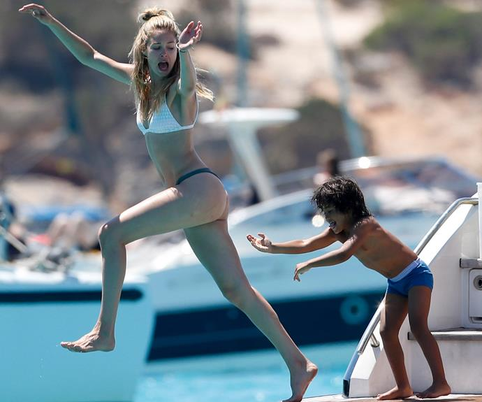 Doutzen's family love to take summer vacations together.