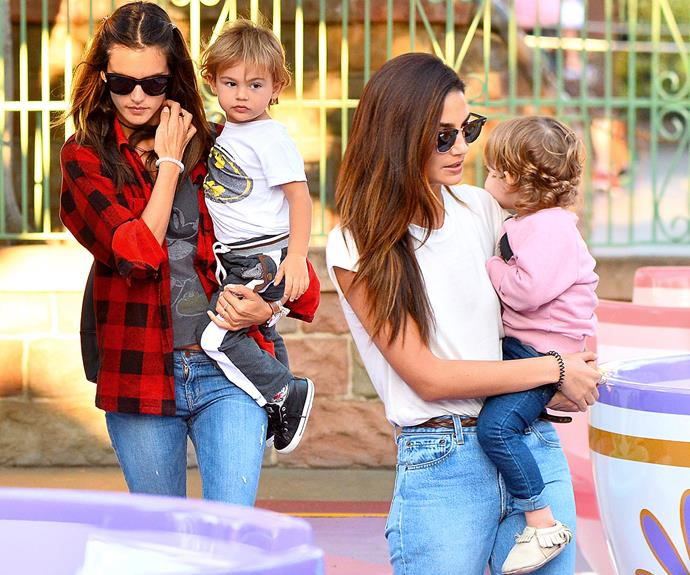 Mums Alessandra and fellow Angel Lily Aldridge are friends both on and off the runway. The two love to catch up for play-dates with their mini-mes.