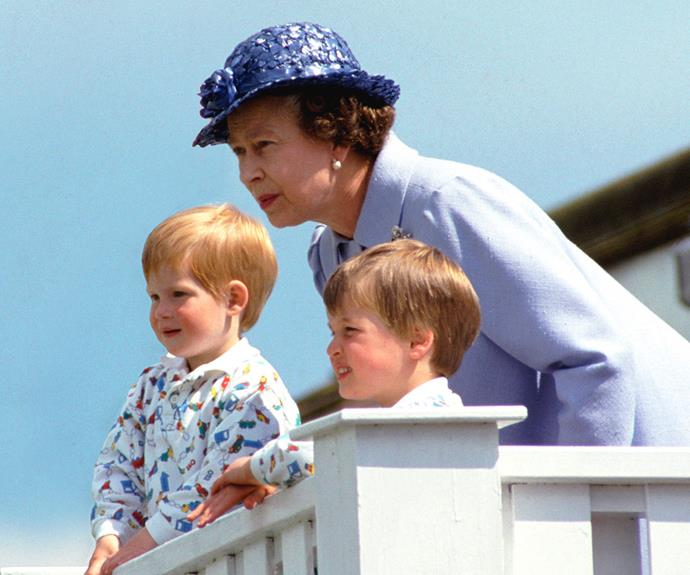 The Queen, pictured with a young Prince Harry and Prince William, loves to treat her family, especially at Christmas!