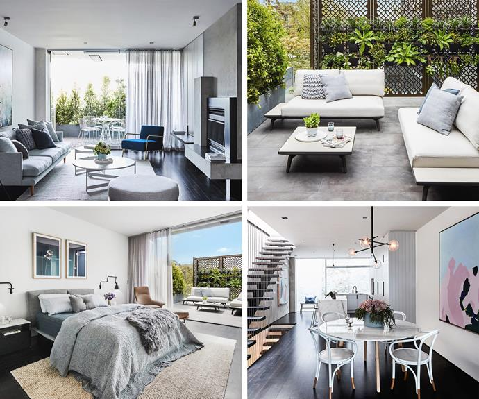 """The townhouse, styled by Bec, is described as """"a luxurious inner city haven."""""""