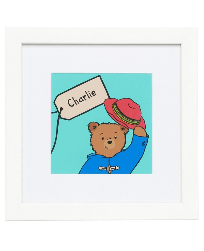 This personalised Paddington Bear artwork makes a beautiful gift for little ones. [Personalised Paddington Artwork](http://www.myer.com.au/shop/mystore/giftorium-personalised-gifts-art-you-know/artyouknow-personalised-2016-paddington-nametag-artwork), $69.