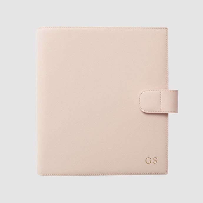 A monogrammed diary? It doesn't get much better! [The Daily Edited Pale Pink 2017 Planner](https://www.thedailyedited.com/2017-planner-pale-pink), $139.95.