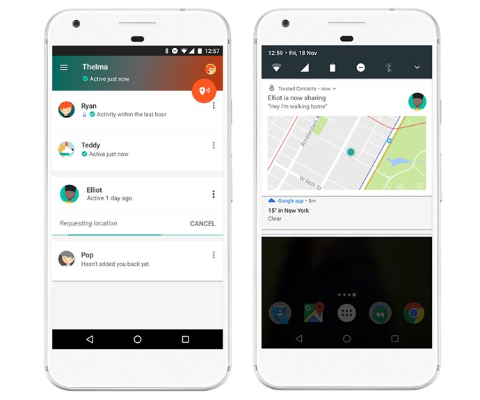 "Google's new app Trusted Contacts mean you'll never walk home alone again. *Via: [Google](https://blog.google/products/maps/let-your-loved-ones-know-youre-safe-our-new-personal-safety-app/|target=""_blank""