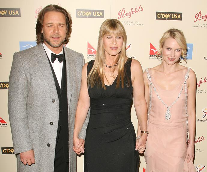 Russell Crowe, Terri Irwin and Naomi Watts at a G'day USA event in 2007.