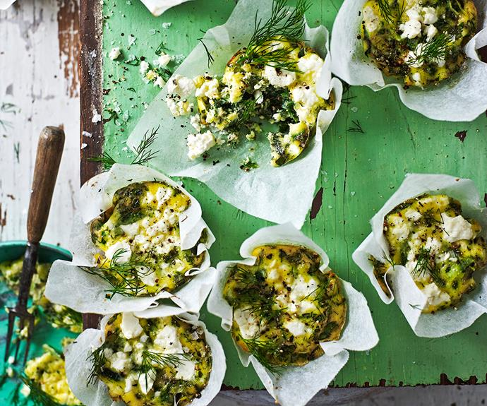 **Green power mini frittatas.** Serve these gluten-free vegetarian mini frittatas with salad for dinner. Cook up a batch and save some for snacks or brekkie, too. [Find the full recipe here](http://www.foodtolove.com.au/recipes/green-power-mini-frittatas-32982).