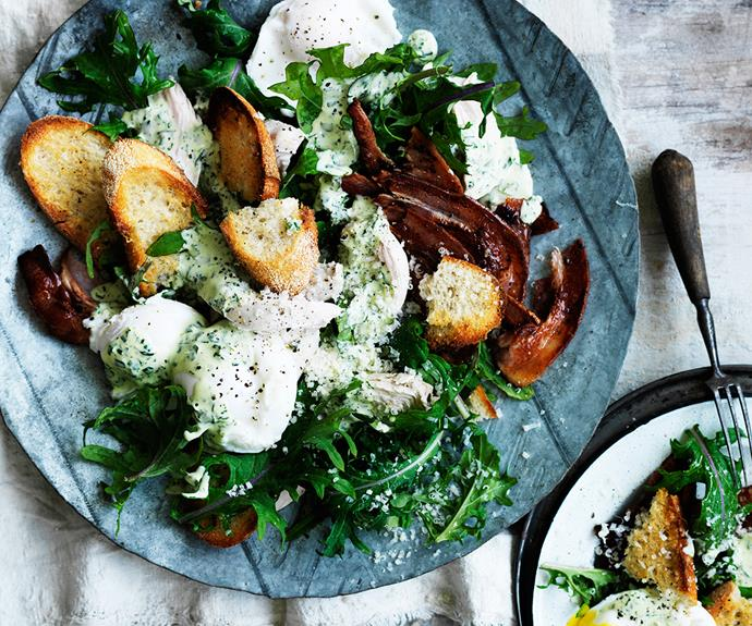 **Kale caesar salad with green goddess dressing.** Give a classic caesar salad a superfood makeover with the addition of kale and a vitamin-rich dressing. [Find the full recipe here](http://www.foodtolove.com.au/recipes/kale-caesar-salad-with-green-goddess-dressing-32983).