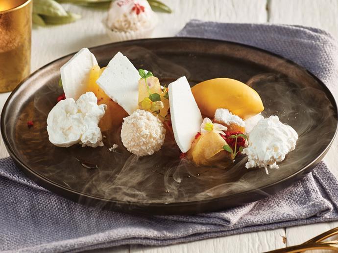 [MasterChef's Reynold Poernomo's 'Christmas in summer' dessert recipe here.] (http://www.foodtolove.com.au/recipes/masterchef-reynold-poernomo-christmas-in-summer-32857)