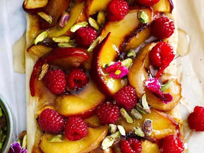 [Peach and nectarine tart recipe here.](Peach and nectarine tart)