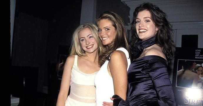 Former model Kate Fischer with Sirens co statrs Elle Macpherson and Portia de Rossi.