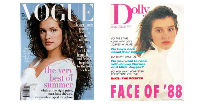 Kate Fischer began her modelling career after she won the Dolly model competition in 1988, aged 13.