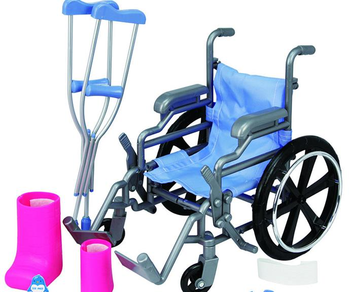 """Toys """"R"""" Us now stock a [Journey Girls Wheelchair and Crutch Set](http://www.toysrus.com/buy/journey-girls-wheelchair-playset-5f5fcdf-55750766 target=""""_blank"""" rel=""""nofollow"""")."""