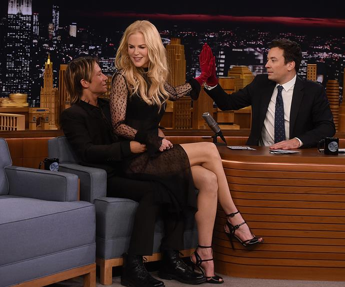 The adorable moment Keith showed Jimmy Fallon what could have been.