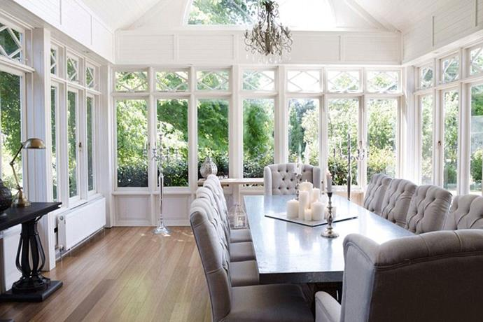 The home has an elegant country feel to it, no doubt thanks to Kyly, who runs a style blog, Lyfestyled. *Image via [Domain](https://www.domain.com.au/)*