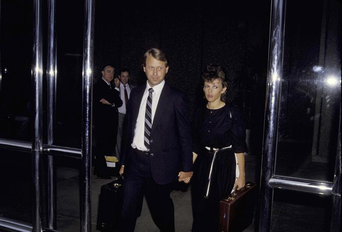 Michael and Lindy arrive at court in Sydney.