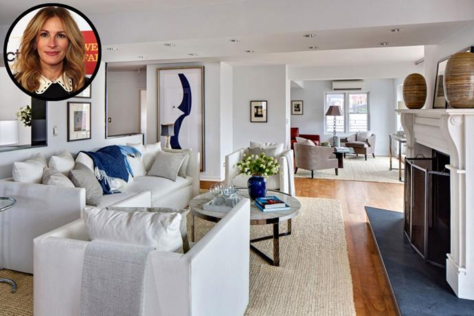**Julia Roberts** Roberts lived in this New York penthouse until 2015, when she sold it for a reported US$4.5 million. *Image via [Zillow](http://www.zillow.com/)*
