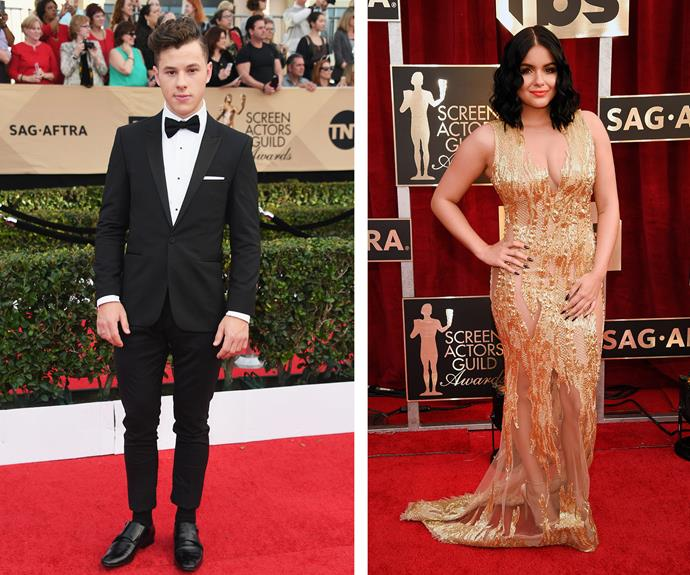 *Modern Family* stars Nolan Gould and Ariel Winter shine on the red carpet.