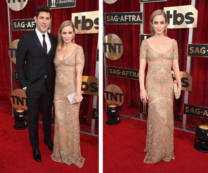 John Krasinski and Emily Blunt are the perfect pair on the red carpet.