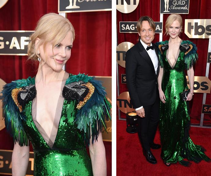 Aussie icon's Nicole Kidman and Keith Urban shine on the red carpet. Nicole is nominated for best actress for her supporting role in *Lion*.