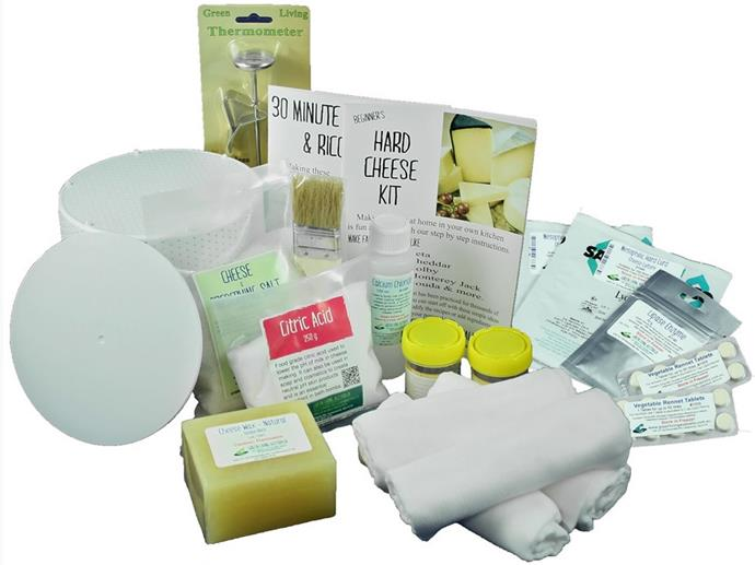 "If your Mum loves cheese then this [cheesemaking kit from Green Living](https://www.greenlivingaustralia.com.au/hard-cheese-30-minute-mozzarella-and-ricotta-combo-kit|target=""_blank"") is perfect. With everything you need to create both hard cheese and a nifty 30 minute ricotta, Mum will be making this [delicious spinach and ricotta lasagne](https://www.womensweeklyfood.com.au/recipes/spinach-and-ricotta-lasagne-3424
