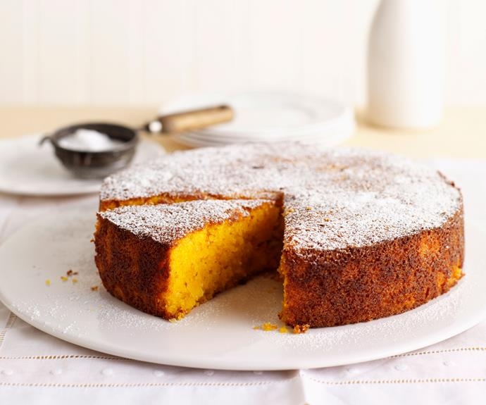 "Made with naturally gluten free polenta, this [mandarin and macadamia cake](http://www.womensweeklyfood.com.au/recipes/gluten-free-mandarin-polenta-and-macadamia-cake-6639|target=""_blank"") is a simple, beautiful and flavourful way to make use of in-season mandarins."