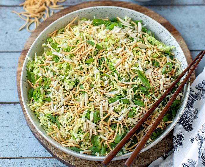 "**[Chang's crispy noodle salad](https://www.changs.com/recipes/crispy-noodle-salad/|target=""_blank""