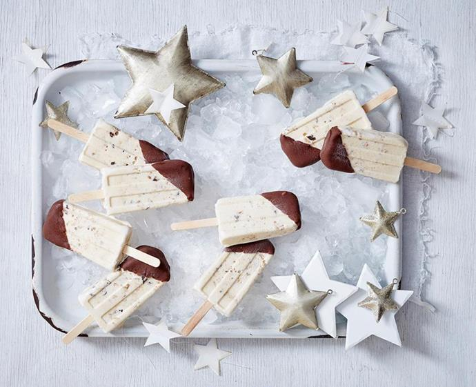 "**[Ice-cream pudding and shortbread pops](https://www.womensweeklyfood.com.au/recipes/ice-cream-pudding-and-shortbread-pops-2823|target=""_blank"")** <br><br> Your favourite festive flavours – think shortbread, mixed spice and everything nice – are turned into a frozen delight and dipped in chocolate for that satisfying crunch. And with a hint of coffee liqueur, it's love at first bite. Don't forget to leave one out for Santa! <br><br> *Brought to you by [Chang's](https://www.changs.com/