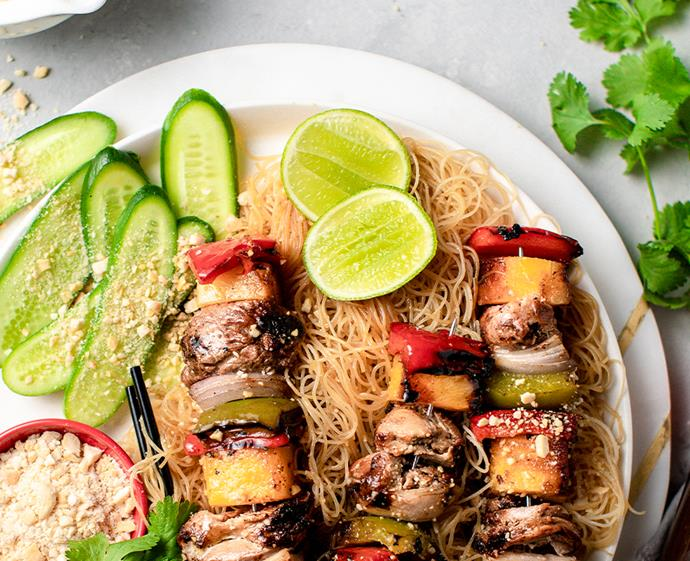 "**[Aussie Summer pork and pineapple skewers](https://www.changs.com/recipes/Aussie-Summer-Pork-and-Pineapple-Skewers/|target=""_blank""