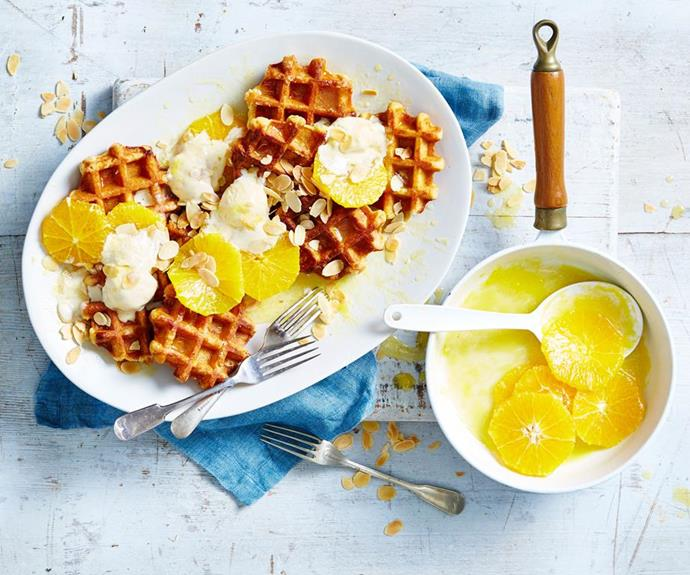 "[Waffles and ice-cream à la suzette](https://www.womensweeklyfood.com.au/recipes/waffles-and-ice-cream-a-la-suzette-15237|target=""_blank"")"