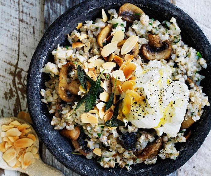 "[Mushroom, sage and buckwheat risotto](https://www.womensweeklyfood.com.au/recipes/mushroom-sage-and-buckwheat-risotto-29432|target=""_blank"")"
