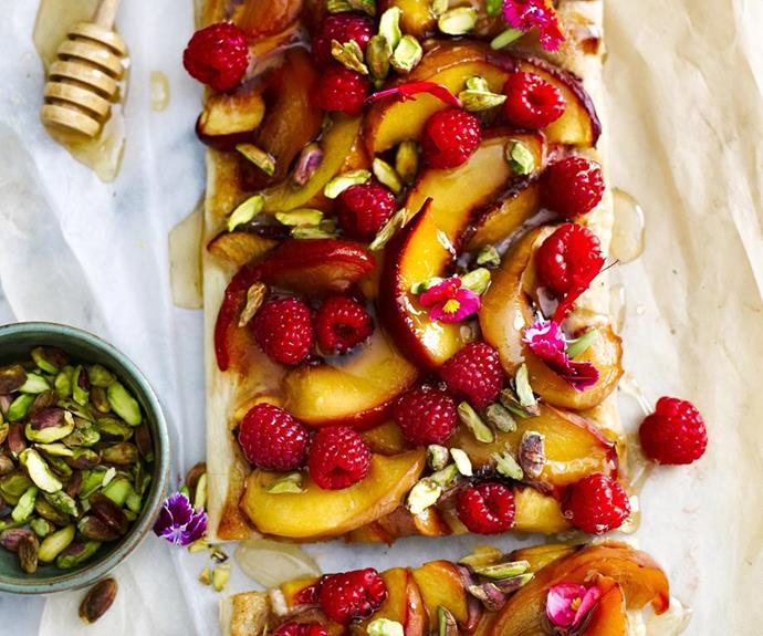 "[Peach and nectarine tart](https://www.womensweeklyfood.com.au/recipes/peach-and-nectarine-tart-12459|target=""_blank"")"