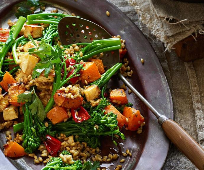 "**[Warm barley and vegetable salad](https://www.womensweeklyfood.com.au/recipes/warm-barley-and-vegetable-salad-23936|target=""_blank"")**  Serve this salad as an accompaniment to grilled fish or roast chicken, or with crumbled goat's cheese as a main meal."
