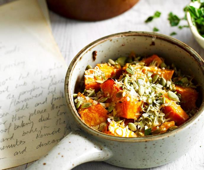 "[Pumpkin bake](https://www.womensweeklyfood.com.au/recipes/pumpkin-bake-27520|target=""_blank"")  This hearty vegetarian dish is so simple and tastes so good you'll soon be adding pumpkin bake to your list of staple recipes."