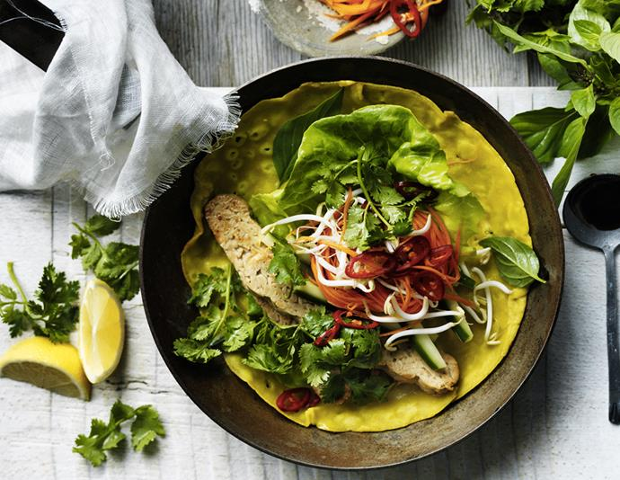 "[Vietnamese coconut and turmeric pancakes](https://www.womensweeklyfood.com.au/recipes/vietnamese-coconut-and-turmeric-pancakes-29481|target=""_blank""