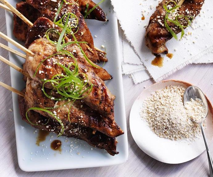 """[Chicken yakitori](https://www.womensweeklyfood.com.au/recipes/chicken-yakitori-6664