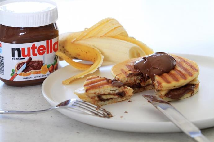 """[Nutella and banana pancake jaffle](https://marcels.co.nz/Recipes/Nutella-and-Banana-Pancake-Jaffle