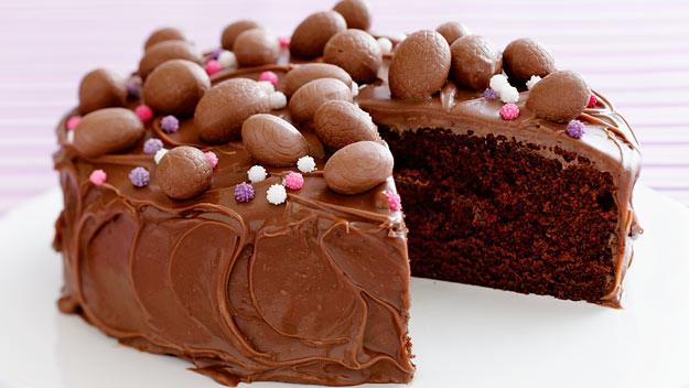 "[Chocolate Easter egg cake](https://www.womensweeklyfood.com.au/recipes/chocolate-easter-cake-10108|target=""_blank""