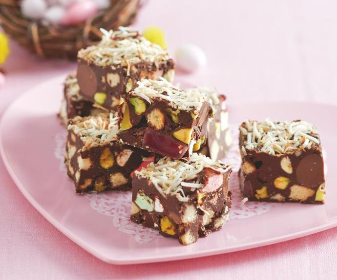 "[Easter egg rocky road](https://www.womensweeklyfood.com.au/recipes/easter-egg-rocky-road-27910|target=""_blank""