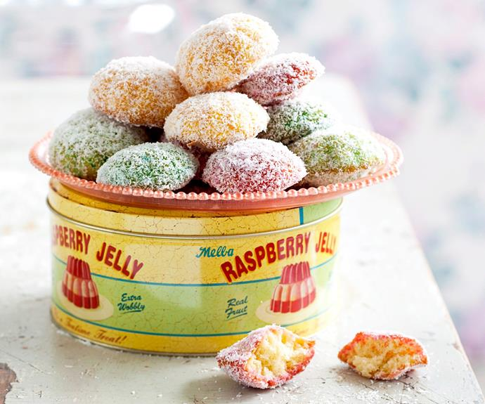"""**[Rainbow jelly cakes](https://www.womensweeklyfood.com.au/recipes/rainbow-jelly-cakes-27183
