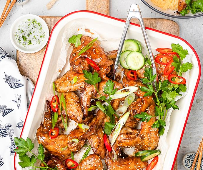 """**[Sticky Chinese chicken wings](https://www.changs.com/recipes/Sticky-Chinese-Chicken-Wings/