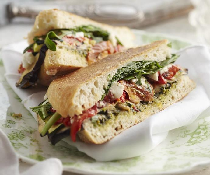 """**[Roasted vegie toastie](https://www.womensweeklyfood.com.au/recipes/roasted-vegie-toastie-4800