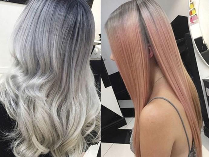 Smoky Pastel Hair 7 Cool Ways To Wear Grey This Spring