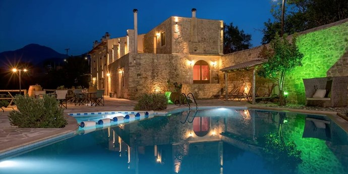 "**3. Historic Stone Villa, Crete, Greece** Sleeps: 15 Bedrooms: 5 Why We Love It: With over 5,000 square feet, this historic building that was built in 1900 is large enough for your guests to stay in without feeling claustrophobic. Rent it [here](https://www.airbnb.com/rooms/930478?sug=50_""blank"")."